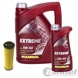 ÖLFILTER SCT SH4030P + 6 Liter Motoröl MANNOL EXTREME SAE 5W-40 SN/CF MERCEDES