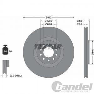 Textar Bremsscheiben Bremsbeläge vorne Audi TT A3 Seat Ibiza Leon Toledo VW Go