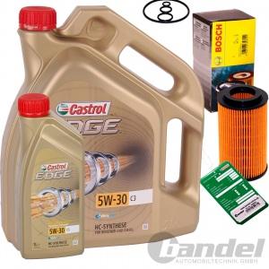 BOSCH ÖLFILTER+6L CASTROL Premium 5W30 C3 BMW 1er E87 3er E90 E91 5er E60 E61 X3