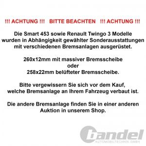 brembo BREMSSCHEIBEN + BELÄGE VORNE RENAULT TWINGO 3 + SMART 453 Pic:2