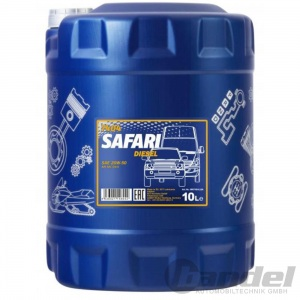 10 Liter 20W50 MANNOL SAFARI API SN CH-4 MINERALISCH UNIVERSAL MOTORÖL