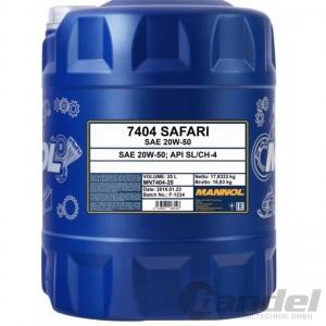 20 Liter 20W-50 Mannol Safari ÖL für Youngtimer Oldtimer API SN/CH-4