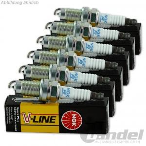 6x NGK ZÜNDKERZE V-LINE 29 BKUR5ET, 6342 6 Zylinder-Motoren KOMPLETT