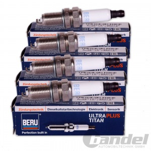 4x BERU ZÜNDKERZE ULTRA PLUS TITAN UPT12P VW GOLF POLO PASSAT TOURAN SHARAN