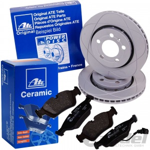 ATE POWERDISC Ø256mm+CERAMIC VORNE AUDI A1 A3 (8L) VW GOLF 4 POLO 6R+9N BORA