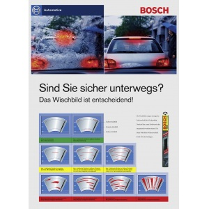 BOSCH KUNSTSTOFF-HECKWISCHER WISCHBLATT HINTEN H330 330mm FORD GALAXY KUGA S MAX Pic:4