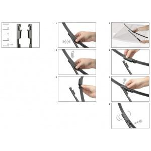 BOSCH AEROTWIN SCHEIBENWISCHER SET VORNE A958S 650+650mm SEAT ALTEA TOLEDO III Pic:2