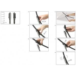 BOSCH AEROTWIN SCHEIBENWISCHER SET VORNE A969S 550+550mm MERCEDES SLK R171 172 Pic:2