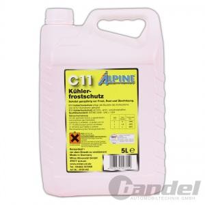 ALPINE KÜHLERFROSTSCHUTZ C11 KONZENTRAT GELB 5L / Antifreeze G11