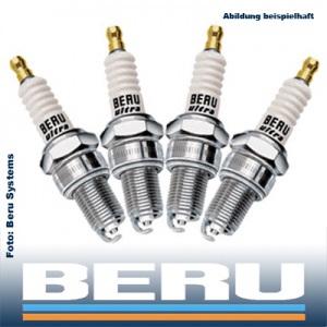 4x BERU ULTRA Zündkerze Z2 14-8DTU 4 Zylinder Motor KOMPLETT-SET