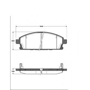 2 BREMSSCHEIBEN 280x28mm + BREMSBELÄGE VORNE NISSAN X-TRAIL BIS Bj. 02.2007 Pic:2