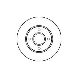 BREMSSCHEIBEN Ø278mm+BREMSBELÄGE VORNE FORD MONDEO I II+KOMBI+LIMO+ST 200+ 2.5 I Pic:1