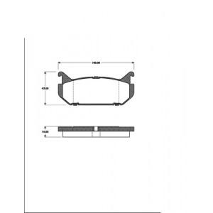 2 BREMSSCHEIBEN 261mm + BELÄGE HINTEN MAZDA 626 GE MX-6 XEDOS 6 FORD PROBE 2 Pic:2