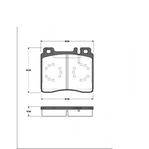 BREMSSCHEIBEN 320mm + BREMSBELÄGE VORNE MERCEDES-BENZ S-KLASSE W140 Pic:2