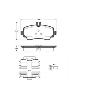 BREMSSCHEIBEN Ø260mm + BELÄGE VORNE MERCEDES A-KLASSE W168 A160 A170 CDI Pic:2
