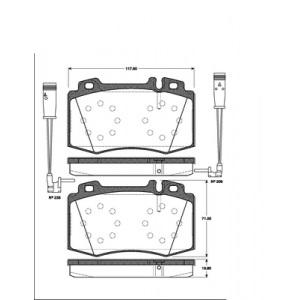 BREMSSCHEIBEN 312mm + BELÄGE VORNE MERCEDES E-KLASSE W211 S211 + CLS C219 Pic:2