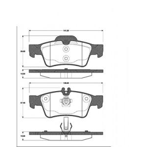 BELÄGE HINTEN MERCEDES E-KLASSE W211 CLS C219 2 BREMSSCHEIBEN 300mm