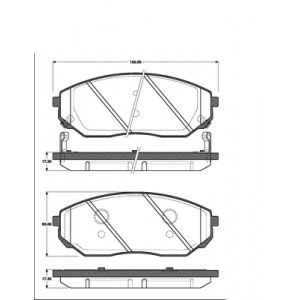 BREMSSCHEIBEN 302mm + BELÄGE VORNE KIA SORENTO 1 I (JC) Baujahr 2002 - 2009 Pic:2
