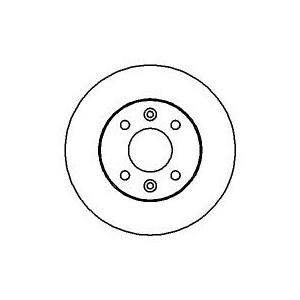 "BREMSSCHEIBEN 238mm massiv +BELÄGE VORNE RENAULT TWINGO 1 (C06) 13"" BENDIX 93-98 Pic:1"