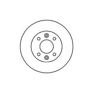 BREMSSCHEIBEN 238mm belüftet + BELÄGE VORNE RENAULT CLIO 1 (BENDIX-Bremssystem) Pic:1