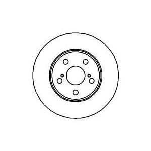 BREMSSCHEIBEN 255mm + BELÄGE VORNE TOYOTA CARINA E [T19] + CELICA [T20] Pic:1