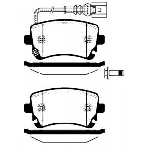 4 BREMSSCHEIBEN + BELÄGE VORNE + HINTEN VW T5 BUS TRANSPORTER MULTIVAN Pic:4