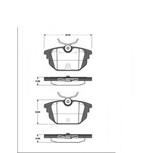 2 BREMSSCHEIBEN 240mm + BELÄGE HINTEN FIAT BARCHETTA COUPE MAREA PUNTO Pic:2