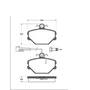 BREMSSCHEIBEN 240mm massiv + BELÄGE VORNE FIAT TIPO TEMPRA LANCIA DEDRA ohne ABS Pic:2