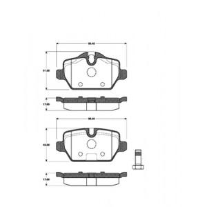 1 SATZ BREMSBELÄGE HINTEN BMW 1 (E81 E97) BMW 3 (E90) + MINI COUNTRYMAN (R60) Pic:1