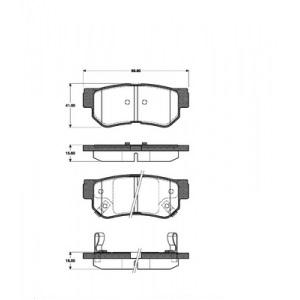 1 SATZ BREMSBELÄGE HINTEN HYUNDAI GETZ  SONATA IV+V + KIA MAGENTIS  OPIRUS Pic:1