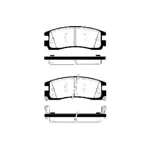 1 SATZ BREMSBELÄGE HINTEN  OPEL SINTRA  CHEVROLET TRANS SPORT  CADILLAC SEVILLE Pic:1