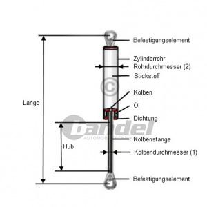 2 GASFEDERN DÄMPFER HECKKLAPPE VW BORA GOLF IV 1J PASSAT 3B+VARIANT KOMBI Pic:1