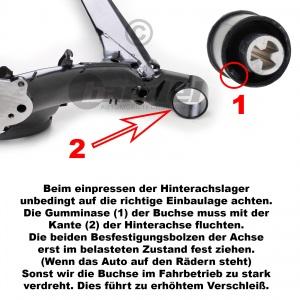 HINTERACHSE + 2 BUCHSEN VW GOLF 4 + VARIANT SKODA OCTAVIA SEAT LEON ACHSE HINTEN Pic:1