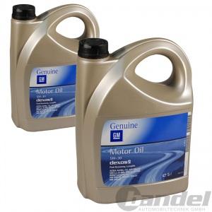 [4,39€/L] 2x 5L OPEL 5W30 Dexos 2 LongLife-04 5W-30 GM-LL-A-025 GM-LL-B-025