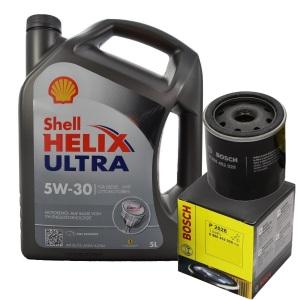 [5,98€/L] 5L SHELL HELIX ULTRA 5W-30 MOTORÖL + BOSCH ÖLFILTER 0986452028