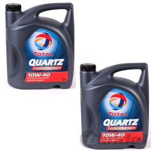 [3,69€/L] 2X5L= 10 Liter TOTAL Quartz 7000 ENERGY SAE 10W-40 Motorenöl