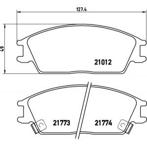 4 Textar Bremsbacken hinten Hyundai Accent Pony X-3 1,3 1,5