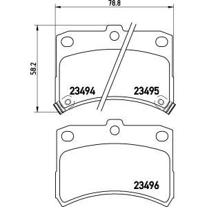 textar bremsbel ge vorderachse daihatsu cuore 6 l7 1 0i. Black Bedroom Furniture Sets. Home Design Ideas