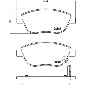textar bset vorne opel corsa d 1 3 cdti 284mm. Black Bedroom Furniture Sets. Home Design Ideas