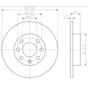 textar bremsscheiben 236mm massiv voll bremsbel ge. Black Bedroom Furniture Sets. Home Design Ideas