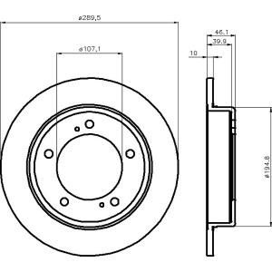 textar bset vorne suzuki jimny fj 289mm. Black Bedroom Furniture Sets. Home Design Ideas