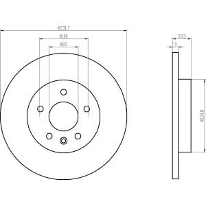 4 textar bremsscheiben bel ge vorne hinten audi seat. Black Bedroom Furniture Sets. Home Design Ideas