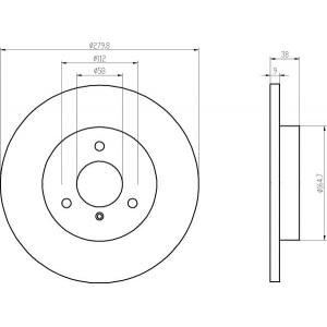 textar bremsscheiben bel ge vorne smart. Black Bedroom Furniture Sets. Home Design Ideas