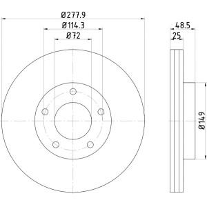 textar bset vorne mazda 3 mazda 5 278mm. Black Bedroom Furniture Sets. Home Design Ideas