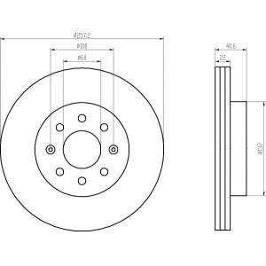 textar bremsscheiben 257mm bremsbel ge vorne opel corsa d. Black Bedroom Furniture Sets. Home Design Ideas