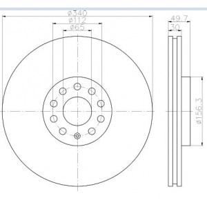textar bremsscheiben bel ge vorne vw golf 7 r passat 2 0. Black Bedroom Furniture Sets. Home Design Ideas