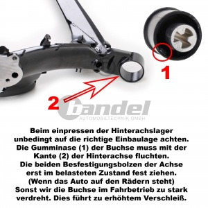 2 HINTERACHSLAGER LINKS+RECHTS AUDI A3 TT SEAT IBIZA 4+5 LEON VW GOLF IV POLO Pic:1