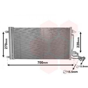VAN WEZEL Kondensator, Klimaanlage 49005038