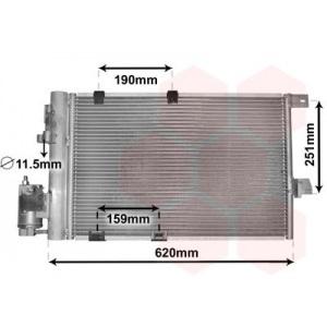 VAN WEZEL Kondensator, Klimaanlage 37005251