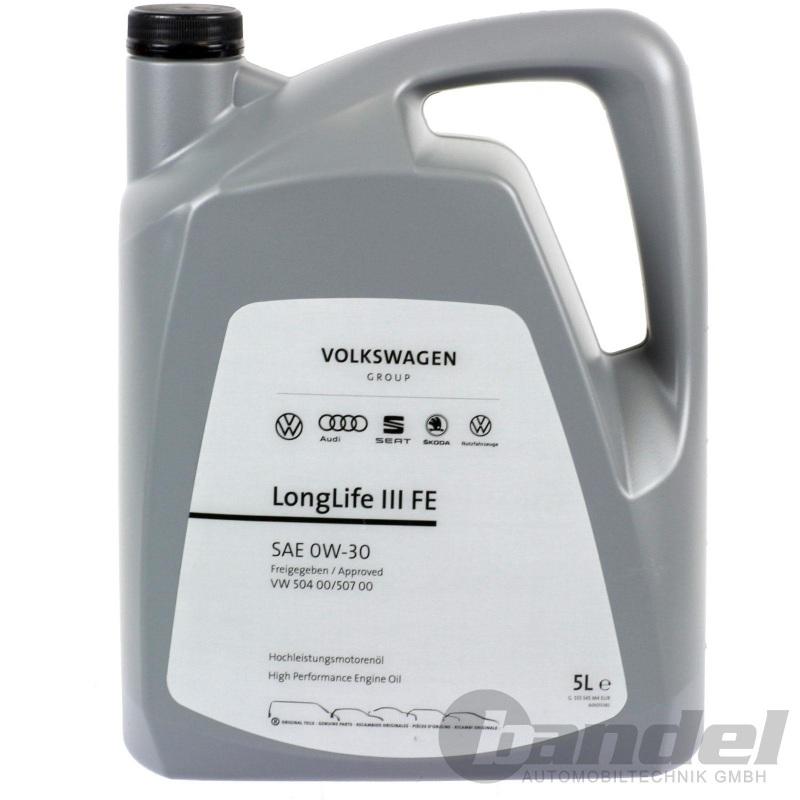 5 Liter ORIGINAL VW AUDI SEAT SKODA 0W-30 ÖL LongLife 3 III FE NACHFOLGER 5W-30